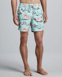 Vilebrequin Blue Father Son Moorea Swim Shorts for men
