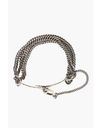 Ann Demeulemeester - Metallic Silver Chain Locking Bracelet for Men - Lyst