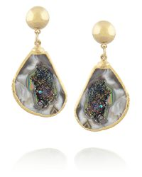 Dara Ettinger | Metallic Blake Goldplated Agate Earrings | Lyst
