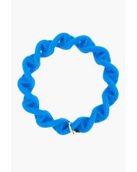 Marc By Marc Jacobs | Electric Blue Haute Mess Rubber Turnlock Key Bracelet | Lyst