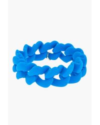 Marc By Marc Jacobs - Electric Blue Haute Mess Rubber Turnlock Key Bracelet - Lyst