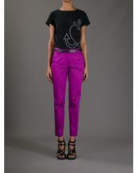 Boutique Moschino Black Anchor Heart Tshirt