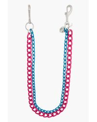 Raf Simons | Oversize Pink and Blue Skull and R Double Keychain for Men | Lyst