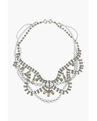 Tom Binns - Black Diamond Crystal and Grey Pearl Tangled Regal Rocker Necklace - Lyst