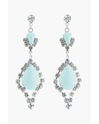 Tom Binns | Green Pastel Mint and White Crystal Madame Dumont Earrings | Lyst