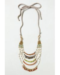 Anthropologie | Multicolor Corallina Ladder Necklace | Lyst