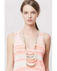 Anthropologie - Multicolor Corallina Ladder Necklace - Lyst