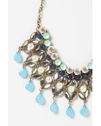 Anthropologie | Blue Fertile Crescent Bib Necklace | Lyst