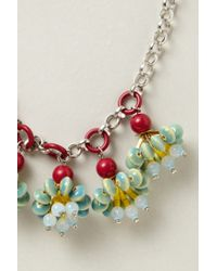Anthropologie - Metallic Candy Cluster Pendant Necklace - Lyst