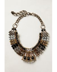 Anthropologie | Brown Batik Beaded Collar | Lyst