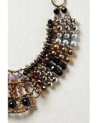 Anthropologie | Brown Batik Beaded Collar | Lyst