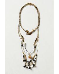 Anthropologie - Metallic Bijouterie Layering Necklace Short - Lyst