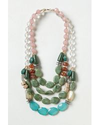Anthropologie - Green Riverstone Necklace - Lyst
