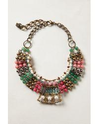 Anthropologie | Pink Batik Beaded Collar | Lyst