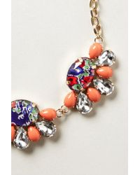 Anthropologie   Red Coventry Bib Necklace   Lyst