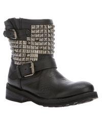 Ash | Black Titan Studded Boot | Lyst