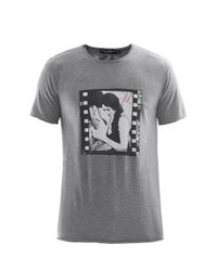 Dolce & Gabbana Gray Monica Bellucci-print T-shirt for men