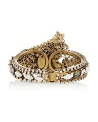 Erickson Beamon Whiter Shade Of Pale Swarovski Crystal Gold Plated Cuff