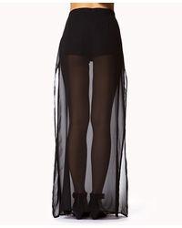 Forever 21 Black Sheer Maxi Skirt