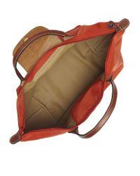 Longchamp - Orange Le Pliage Medium Handbag - Lyst