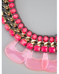 Marina Fossati - Pink Beaded Statement Necklace - Lyst