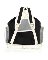 Pierre Hardy - Black Leather-trimmed Neoprene Backpack - Lyst