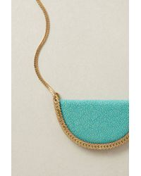 Anthropologie | Blue Stingray Crescent Necklace | Lyst