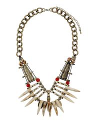 TOPSHOP | Metallic Tusk Chain Collar | Lyst