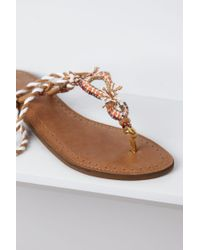 Anthropologie | White Embroidered Nilkantha Sandals | Lyst