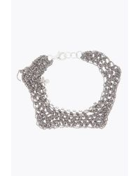 Arielle De Pinto - Gray Crystal Trim Zig Zag Bracelet - Lyst