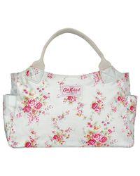 Cath Kidston White Washed Roses Print Day Handbag