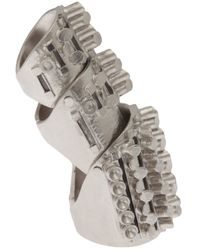 Delphine Charlotte Parmentier - Metallic Palladium Knuckle Ring - Lyst