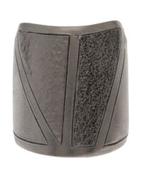Delphine Charlotte Parmentier - Metallic Small Geometric Ring - Lyst