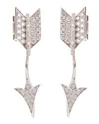 Lydia Courteille | Metallic Arrow Earrings | Lyst