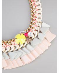 Marina Fossati | Multicolor Triangle Chain Necklace | Lyst