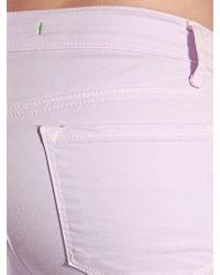 J Brand - Purple Japanese Twill Mid Rise Skinny Jeans - Lyst