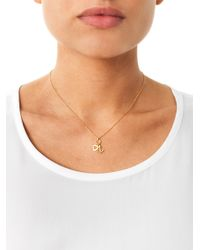 Aamaya By Priyanka - Metallic Heart and Anchor Gold-Plated Necklace - Lyst
