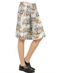 Marni Multicolor Printed Viscose Silk Radzmir Skirt