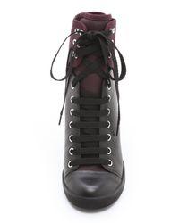 See By Chloé - Black Wedge Sneakers - Lyst