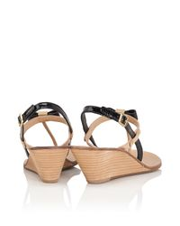 Tory Burch Kailey Wedge Thong Sandal in Yellow - Lyst