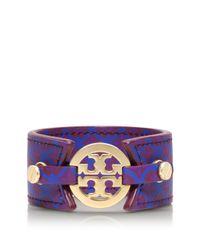 Tory Burch | Purple Skinny Double Snap Bracelet | Lyst