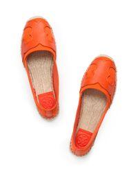 Tory Burch Orange Billie Espadrille