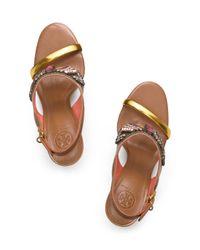 Tory Burch Multicolor Tanner High Heel Sandal