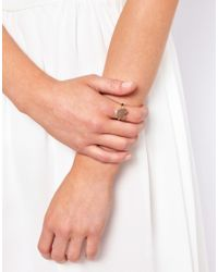 ASOS Collection - Metallic Limited Edition Textured Heart Ring - Lyst