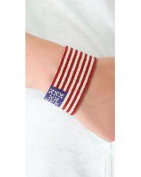 Chan Luu Red American Flag Bracelet