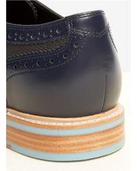 Cole Haan Blue Cooper Square Wingtip Shoes for men