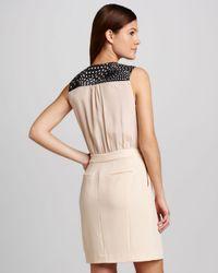Cut25 by Yigal Azrouël Natural Tuxedo Front Crepe Dress