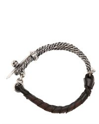 Emanuele Bicocchi | Black Wire Bracelet for Men | Lyst