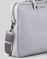 Givenchy Classic Leather Briefcase Gray for men