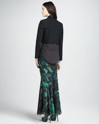 Haute Hippie Multicolor Womens Bias Chiffon Maxi Skirt